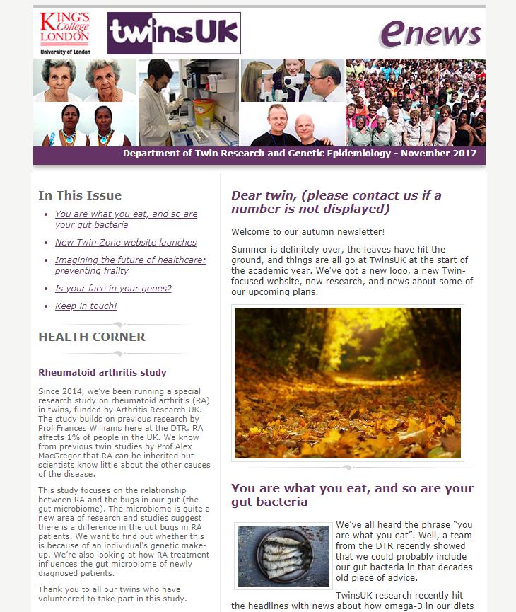 E-newsletter November 2017