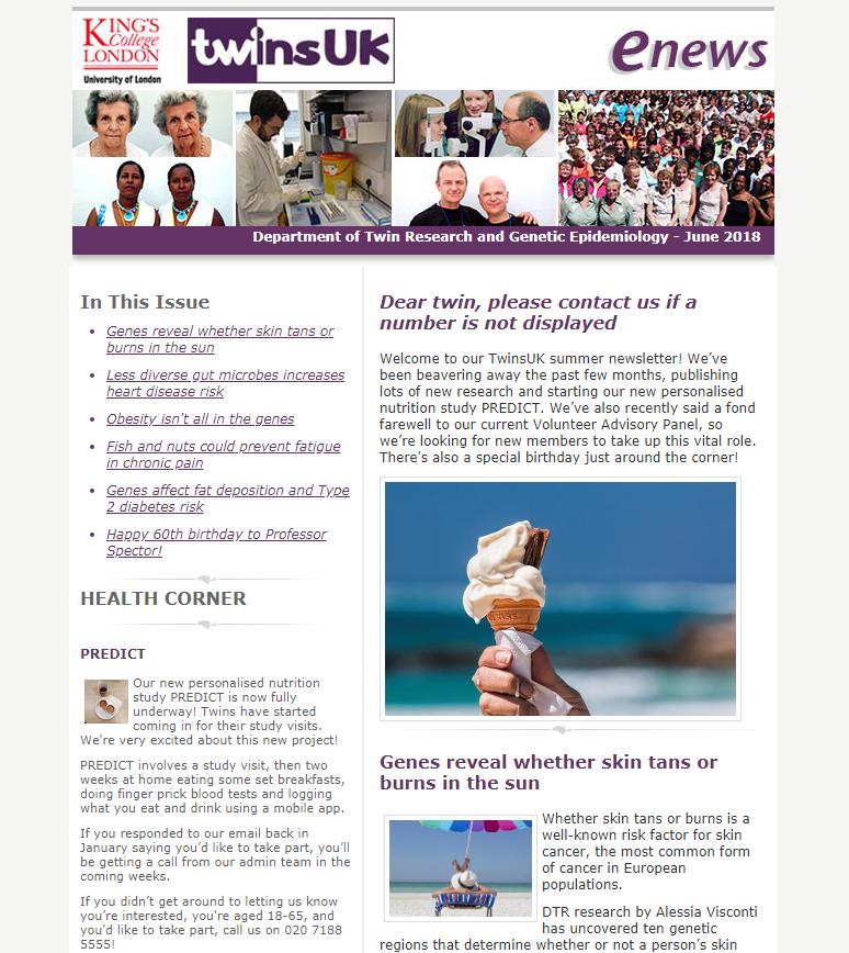 E-newsletter June 2018