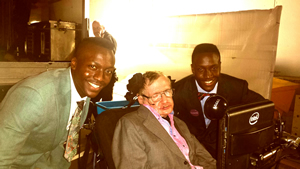 Daniel and Raphael with Stephen Hawkings