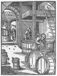 In the preservative era, alcohol was a key way of preserving water, reducing the risk of infection